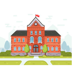 College campus for students or university building vector