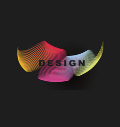 Colorful lines twisted into circular shape vector