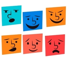 creative cartoon style smiles vector image