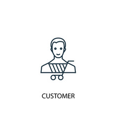 customer concept line icon simple element vector image