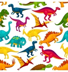 Dinosaur jurassic animal monster seamless pattern vector image