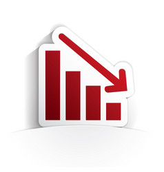 down graph icon paper vector image