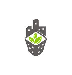 Eco building farm development urban vector
