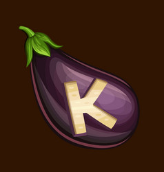 Eggplant icon for slot game vector