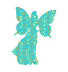 fairy pattern silhouette fairytale fantasy magical vector image