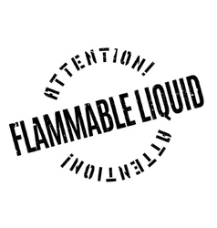 Flammable Liquid rubber stamp vector image
