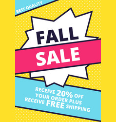 flat design sale website banner template vector image