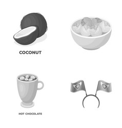 food cooking and other monochrome icon in cartoon vector image