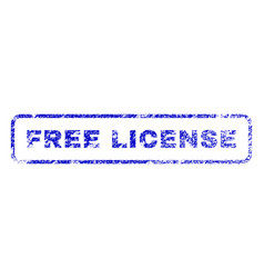 free license rubber stamp vector image