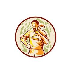 Gardener Landscaper Shovel Cartoon vector