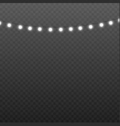 Garland thread a party illumination 3d realistic vector