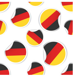 Germany flag sticker seamless pattern background vector