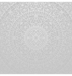 Gray background with oriental decorations vector