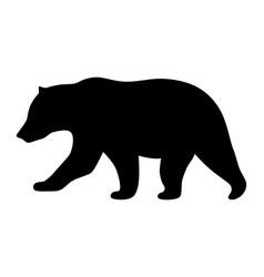 Grizzly bear or polar bear silhouette icon vector
