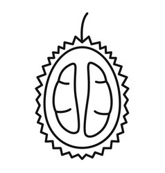 half fresh durian icon outline style vector image