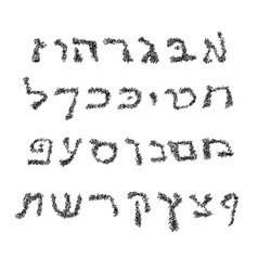 Hebrew Alphabet Font hand draw Graphic Hebrew vector image