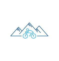 Hill bike logo icon design vector