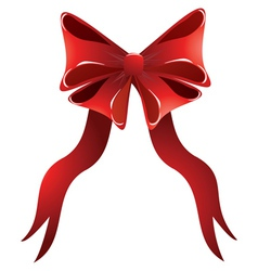 Holiday red bow vector