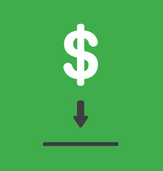 icon concept of dollar symbol into moneybox hole vector image