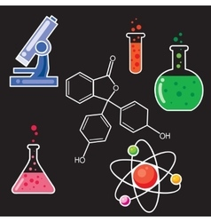 Icons set for chemist vector