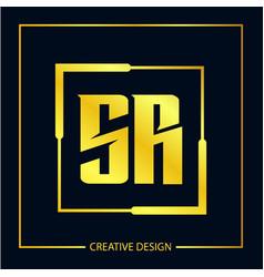 Initial letter sr logo template design vector