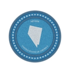 Label with map of nevada Denim style vector