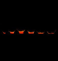 Lava juice splash sequence animation sprite sheet vector