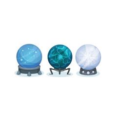 Magical crystal orbs as mysterious paranormal vector