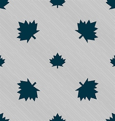 Maple leaf icon Seamless pattern with geometric vector image