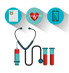 Medical healthcare isolated icon vector