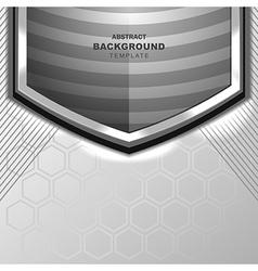 Modern grey background design vector