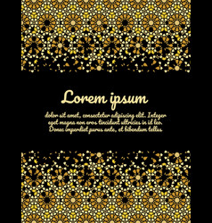 Moroccan card design gold and black vector