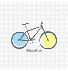 Old bicycle retro background vector