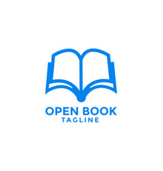 Open book logo icon design template vector