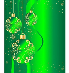 ornate ornaments green vector image