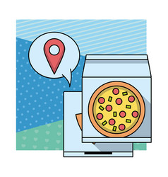 pizza fast food delivery vector image