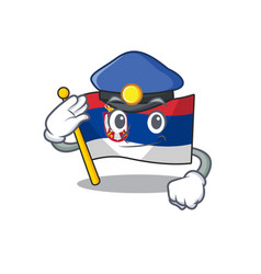 Police flag serbia isolated with character vector