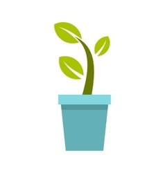 Pot tree icon flat style vector