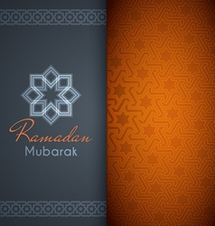 Ramadan Mubarak greeting card or background with vector image