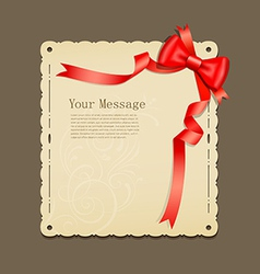 Red ribbons and paper vector image