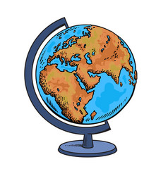School globe model of earth geography icon vector