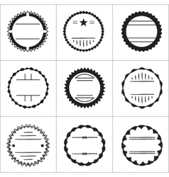 set emblems and badges vector image