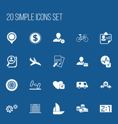 Set of 20 editable complicated icons includes vector