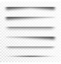 set transparent shadows page dividers vector image