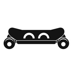 Skateboard deck icon simple style vector