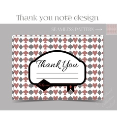 Thank you Note - Key from Wonderland vector image