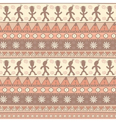 Tribal seamless pattern in pastel colors vector