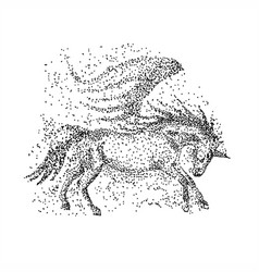unicorn particle vector image