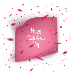valentines day card background with confetti and vector image