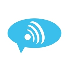 wifi signal within conversation bubble icon vector image